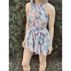 L'ATISTE BY AMY floral summer romper dress